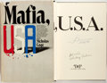 Books:Americana & American History, [Mickey Cohen, et al]. Nicholas Gage, editor. Mafia, USA.Playboy Press, [1972]. First edition. Signed by gangster...