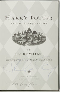 J.K. Rowling. SIGNED. Harry Potter and the Sorcerer's Stone. Arthur A. Levine, [2000]. Collecto