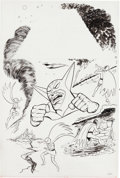 Original Comic Art:Covers, Win Mortimer Battle of the Planets #9 Cover Original Art(Whitman, 1980)....