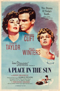 "Movie Posters:Drama, A Place in the Sun (Paramount, 1951). Poster (40"" X 60"") Style Z....."
