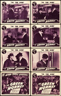 "Movie Posters:Serial, The Green Hornet (Universal, 1940). Lobby Card Set of 8 (11"" X14""). Chapter 5 -- ""The Time Bomb."". ... (Total: 8 Items)"