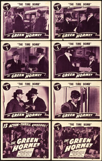 "The Green Hornet (Universal, 1940). Lobby Card Set of 8 (11"" X 14""). Chapter 5 -- ""The Time Bomb.""..."