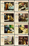 """Movie Posters:Hitchcock, Rear Window (Paramount, 1954). Lobby Card Set of 8 (11"""" X 14"""").. ... (Total: 9 Items)"""