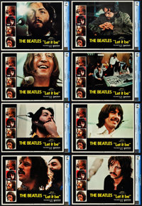 """Let It Be (United Artists, 1970). CGC Graded Lobby Card Set of 8 (11"""" X 14""""). ... (Total: 8 Items)"""