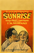 "Movie Posters:Academy Award Winners, Sunrise (Fox, 1927). Window Card (14"" X 22"").. ..."