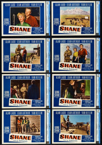 "Shane (Paramount, 1953). CGC Graded Lobby Card Set of 8 (11"" X 14""). ... (Total: 8 Items)"
