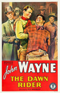 "Movie Posters:Western, The Dawn Rider (Monogram, R-Late 1930s). One Sheet (27"" X 41"")....."