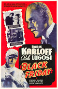 """Movie Posters:Horror, Black Friday (Universal, 1940). Silk Screen Poster (40"""" X 60"""").Horror.. ..."""