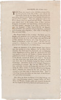 Miscellaneous:Broadside, [Revolutionary War]. Broadside: General Thomas Gage's Account ofthe Battle of Bunker Hill....