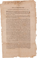 Miscellaneous:Broadside, [Revolutionary War] and [John Hancock]. Broadside: State ofMassachusetts-Bay. In the House of Representatives June 8, 1...