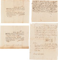 Autographs:Military Figures, [Revolutionary War]. Colonel Seth Warner Autograph Military Documents (2) Signed,... (Total: 4 Items)