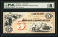 Obsoletes By State:Indiana, Lafayette, IN- The Pioneer Association $5 Wolka 359-3 Proprietary Proof. ...