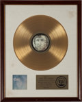 Music Memorabilia:Awards, John Lennon Imagine RIAA Gold Record Award (Apple 3379,1971)....