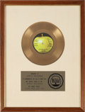 "Music Memorabilia:Awards, Wings ""Live And Let Die"" RIAA Gold Record Award (Apple 1863,1973)...."