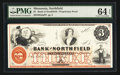 Obsoletes By State:Minnesota, Northfield, MN- Bank of Northfield $3 G6a Hewitt B440-D3Proprietary Proof. ...