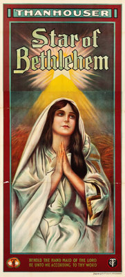 "Star of Bethlehem (Film Supply, 1912). Three Sheet (40"" X 89.5"")"