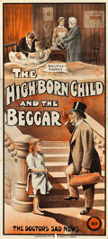 "Movie Posters:Drama, The High-Born Child and the Beggar (Kalem, 1913). Three Sheet (40""X 89"").. ..."