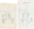 Original Comic Art:Miscellaneous, Winnie-the-Pooh Preliminary Original Art and ProductionMaterials Group (Gold Key, 1977-84)....