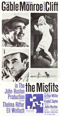 "Movie Posters:Drama, The Misfits (United Artists, 1961). Three Sheet (41"" X 80"").. ..."
