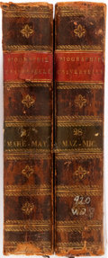 Books:Reference & Bibliography, Biographie Universelle, Ancienne et Moderne. Paris: 1820.Two octavo volumes only, featuring MARE-MIZ. Bibliography ...(Total: 2 Items)