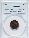Proof Indian Cents: , 1883 1C PR64 Red and Brown PCGS. PCGS Population (228/148). NGCCensus: (81/151). Mintage: 6,609. Numismedia Wsl. Price for...