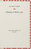 Books:Biography & Memoir, Anne Morrow Lindbergh. SIGNED. Christmas in Mexico, 1927.New York: Harcourt Brace Jovanovich, 1971. First edition. ...