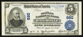 National Bank Notes:Maine, Waterville, ME - $5 1902 Plain Back Fr. 598 The Peoples NB Ch. # 880. ...