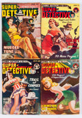 Pulps:Detective, Super-Detective Stories Group (Trojan Publishing, 1942-50)Condition: Average VG.... (Total: 15 Comic Books)
