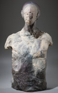 Post-War & Contemporary:Contemporary, STEPHEN DESTAEBLER (American, 1933-2011). Man with MummifiedFace, 1981/87. Bronze. 25 x 11 x 9 inches (63.5 x 27.9 x 22...