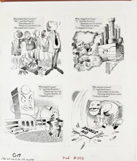 Bob Clarke - Mad #206 Page Original Art, Group of 3 (EC, 1979). Three pages of fine Bob Clarke art for the feature, &quo...
