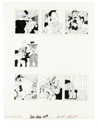 Paul Coker Jr. - Mad #219 Page Original Art, Group of 2 (EC, 1980). Paul Coker illustrates two pages for the feature, &q...