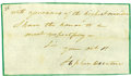 "Autographs:Military Figures, Stephen Decatur Autograph Closing Signed ""with assurances of the highest considera/ I have the honor to be/ most respectfu... (Total: 1 Item)"