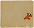 Animation Art:Production Cel, Heathcliff Hand Painted Production Cel (undated). The fat tabbywith an attitude to match, Heathcliff, kicks up some dust, i...