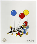 "Animation Art:Limited Edition Cel, ""Party Pals"" Limited Edition Serigraph Cel Original Art with WalterLantz Signed Payroll Check (Walter Lantz Productions, 1997...(Total: 2 Items)"