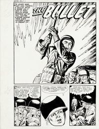 """Jack Sparling - Fighting Fronts #5 Complete 7-page Story """"The Bullet"""" Original Art (Harvey, 1953). A Korean Wa..."""