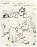 """Original Comic Art:Miscellaneous, John Stanley - Little Lulu """"Spin the Bottle"""" Preliminary DrawingOriginal Art (undated) Tubby takes center stage in this ink..."""