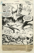 "Original Comic Art:Splash Pages, Romeo Tanghal - Weird War Tales #54 Splash Page 1 Original Art (DC,1977). The Grim Reaper balances his ""book of the dead"" i..."