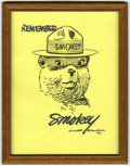 Original Comic Art:Sketches, Rudy Wendelin - Smokey Bear Sketch Original Art (1993). Here's afine portrait of Smokey by his long-time official artist fo...