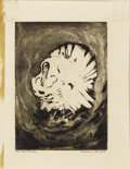 Texas:Early Texas Art - Drawings & Prints, CONSTANCE FORSYTH (1903-1987). The White Turkey, 1940's.Aquatint. 9.50in. x 7in.. Signed lower right. Titled lower left...