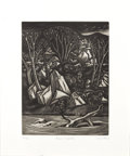 Texas:Early Texas Art - Drawings & Prints, J.J. MCVICKER (1911-2004). River Tapestry, 1947. Aquatint.11.5in. x 8.75in.. Signed, dated and titled bottom. The lev...