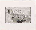 Texas:Early Texas Art - Drawings & Prints, KELLY FEARING (1918-). Floating Above. Soft ground etching.5in. x 8in.. Signed, dated and titled bottom. A classic su...
