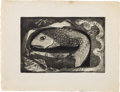 Texas:Early Texas Art - Drawings & Prints, DICKSON REEDER (1912-1970). Fish, 1944. Soft ground etchingand aquatint. 5.75in. x 8.75in.. Unsigned, but accompanied b...