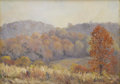 Texas:Early Texas Art - Impressionists, IRA MCDADE (1867-1951). Autumn. Oil on canvasboard. 14in. x20in.. Signed lower right. A Texas Hill Country landscape ...