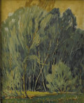 Texas:Early Texas Art - Regionalists, DWIGHT HOLMES (1900-1985). Willows, 1930's. Oil on masonite.10in. x 12in.. Signed lower left. ...