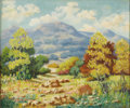 Texas:Early Texas Art - Impressionists, IRA SHEPLER (1876-1944). Landscape, 1930's. Oil on canvas.25in. x 30in.. Signed lower right. Exhibited: San Antonio ...