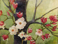 Texas:Early Texas Art - Impressionists, CATHERINE MCKINLEY SMITH (1908-1990). Soulange Magnolia.Acrylic on paper. 22in. x 29in.. Signed lower right. Signed and...