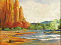 Texas:Early Texas Art - Regionalists, CATHERINE MCKINLEY SMITH (1908-1990). Red Rocks Arizona. Oilon canvas. 15in. x 20in.. Signed lower right. Signed and ti...