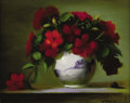 Paintings, MELINDA WARING (20th Century). Impatiens. Oil on canvas. 8in. x 10in.. Signed lower right. Melinda Waring is a contemp...