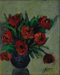 Texas:Early Texas Art - Regionalists, JOSEPHINE MAHAFFEY (1903-1986). Still Life with Tulips. Oilon canvas. 24in. x 30in.. Signed lower right. A thickly pa...