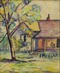 Texas:Early Texas Art - Regionalists, JOSEPHINE MAHAFFEY (1903-1986). Houston 1939, 1939.Watercolor. 12in. x 10in.. Signed and dated lower right. A rarean...
